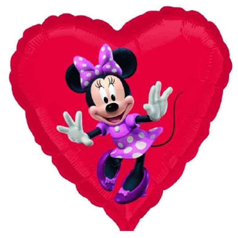Фольгированное сердце Минни Маус