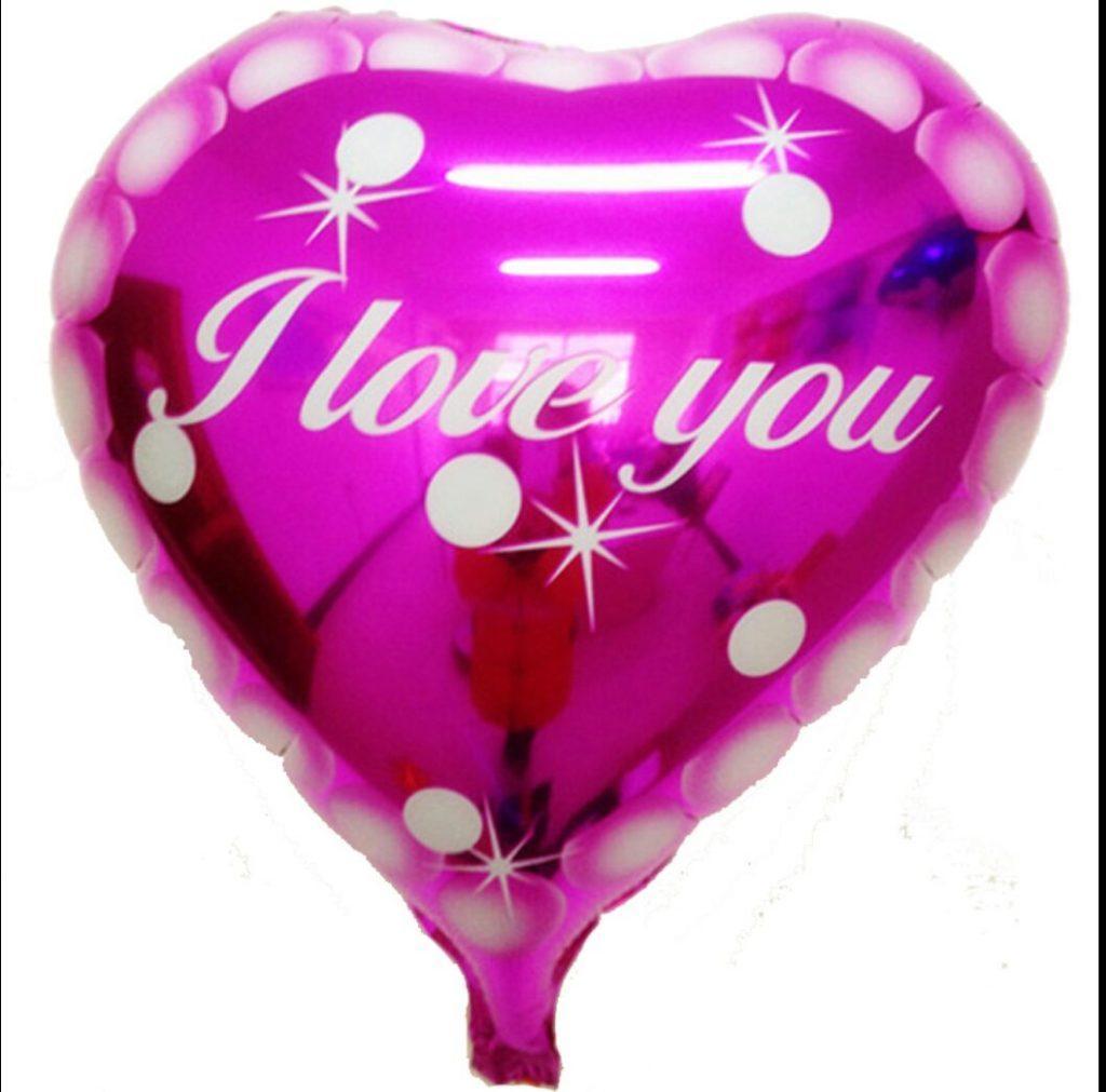 Фольгированные воздушные шары Просто люблю