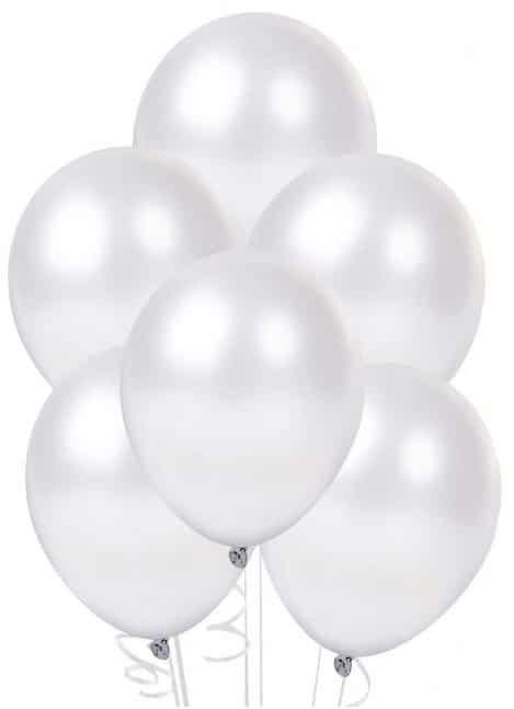 Воздушные шарики БЕЛЫЙ ПЕРЛАМУТР с гелием