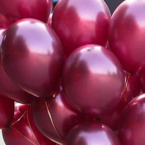 Воздушный шарик бургунд металлик