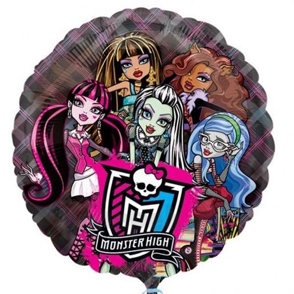 Фольгированные шары ДЖАМБО/КРИСТАЛ Monster High