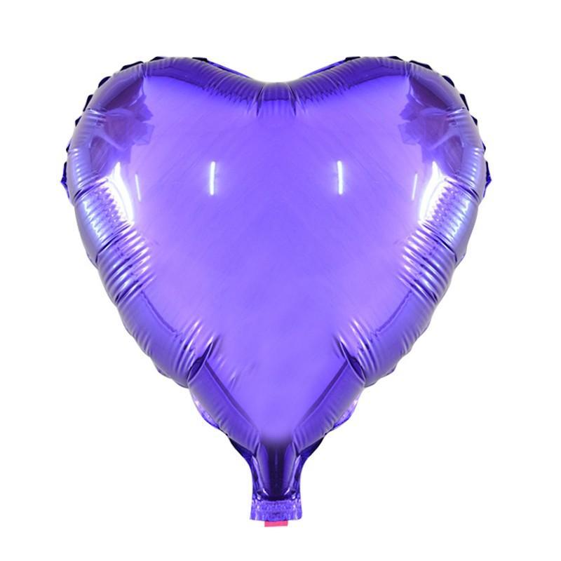 Фольгированные шары сердца металлик фиолетовый