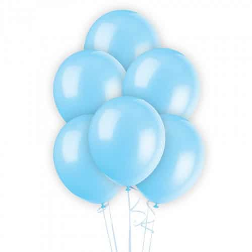 Шар латексный голубой перламутр