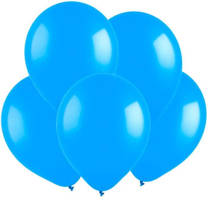 Шарик воздушный с гелием голубой