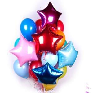 Связка из воздушных шаров ЯРКАЯ
