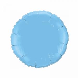 Фольгированный круг пастель голубой