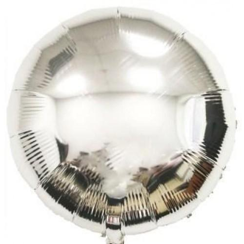 Фольгированный круг серебряный металлик