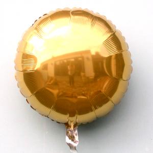 Фольгированный круг золотой металлик