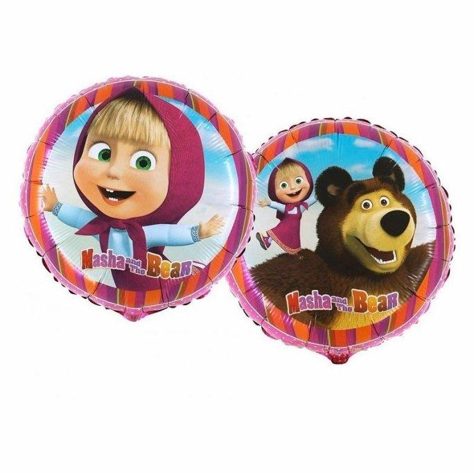 Фольгированные шары Маша и медведь