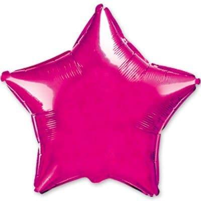 Фольгированная звезда пурпурный металлик