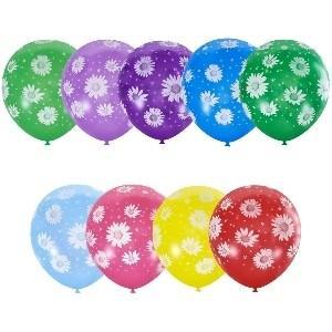 Воздушный шарик с гелием РОМАШКИ