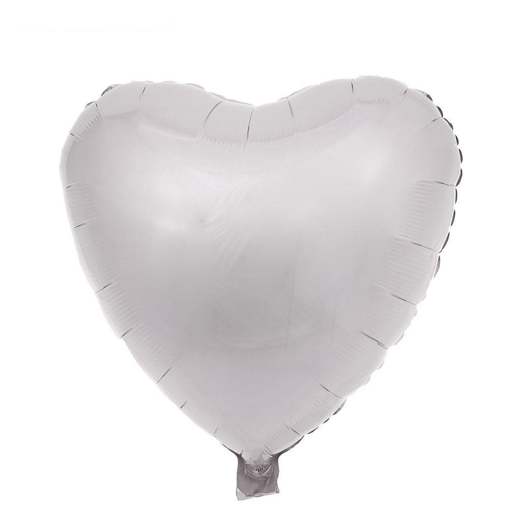 Фольгированные шары Сердца пастель белое