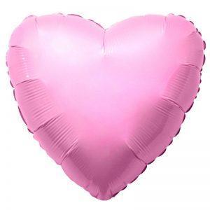 Сердце пастель розовое
