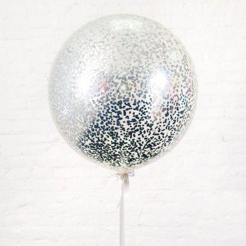 Воздушный шар латексный ГИГАНТ 60 см с конфетти
