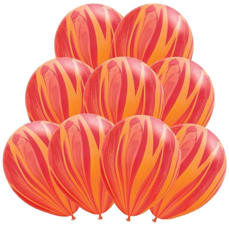 Шарик латексный супер АГАТ красно-оранжевый