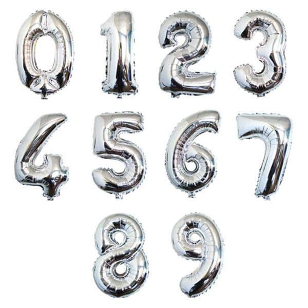 Цифры серебро