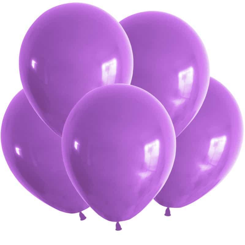 Воздушные шарики с гелием темно-фиолетовый