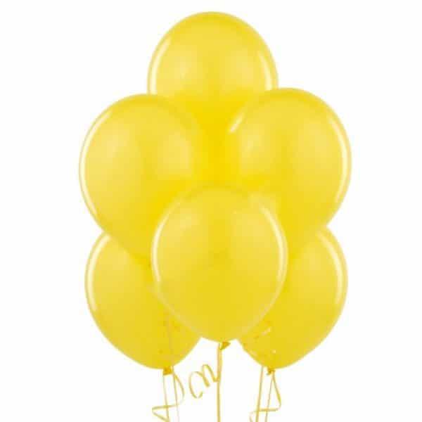 Шары латексные желтый