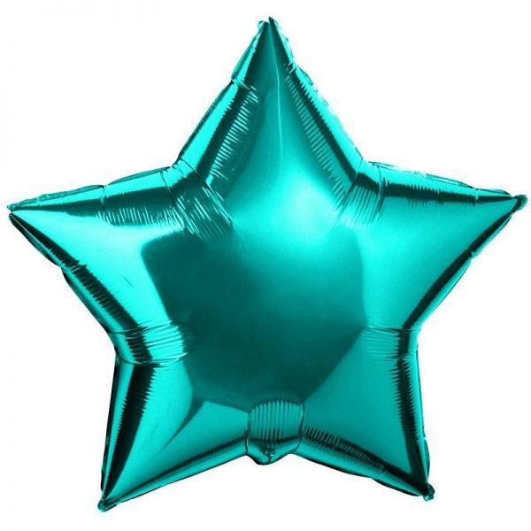 Звезда большая металлик тиффани