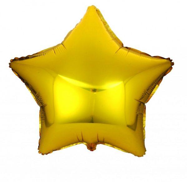 Звезда металлик золото