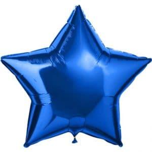 Звезда большая металлик синий