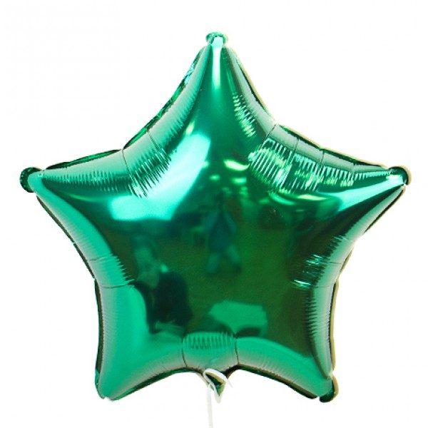 Звезда металлик зеленый