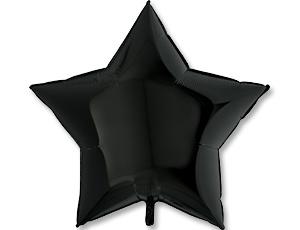 Фольгированные шары ЗВЕЗДА 36″ Пастель Black