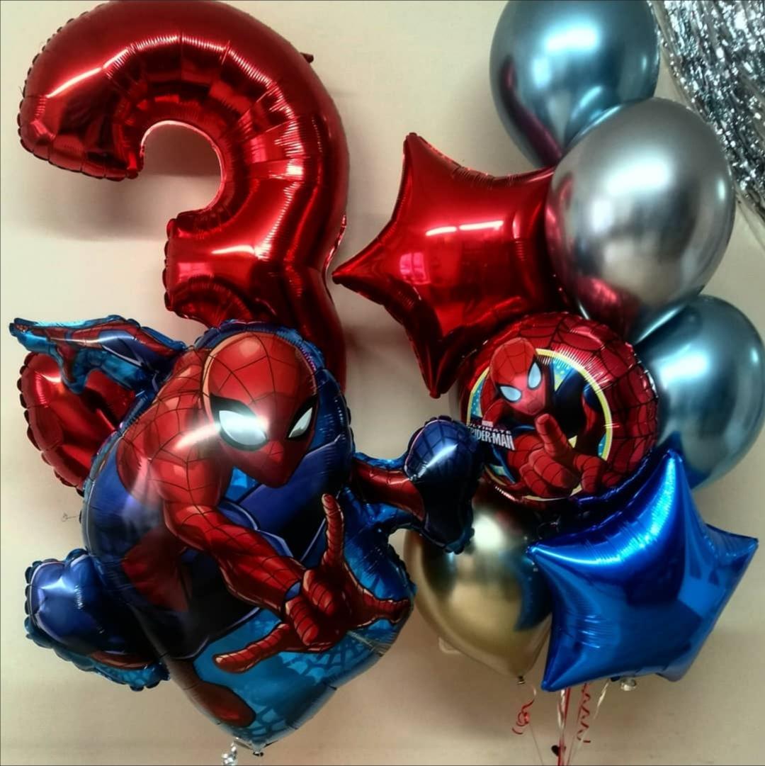 Комплект из шаров Spider Man (Человек паук)